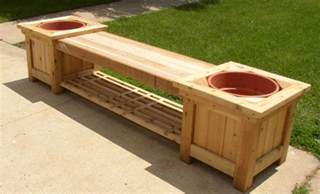 Deck Planter Bench by 9 Diy Planter Benches For Your Outdoor Spaces Shelterness
