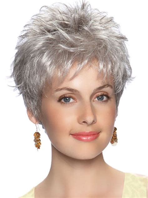 spikey short wigs emily wig short hair spiky layers with tapering and added