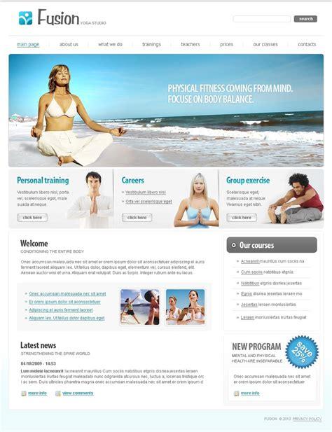 website templates for yoga yoga website template 27434