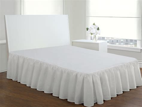 White Size Bed Skirt by Hotel White Bed Skirt King Size 15 Inch Fall Buy Bed