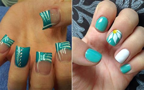 teal color nails various options for teal nail designs 2018 goostyles