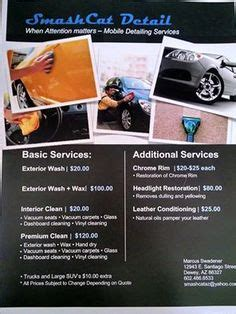 boat service price list finishing touch detail offering mobile detailing
