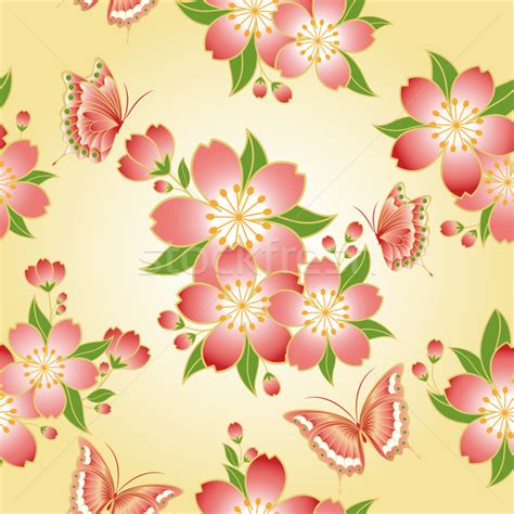 new year flower pattern new year greeting card vector illustration