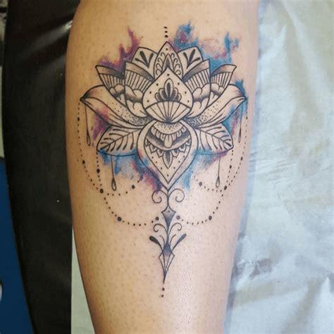 tattoo mandala bras tatouage lotus bras aquarelle ornemental png 500 215 500