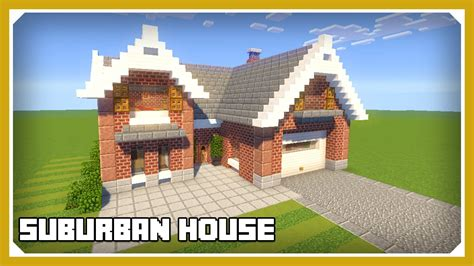 minecraft suburban house tutorial minecraft how to build a suburban house tutorial easy survival minecraft house