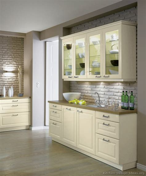 White Cabinets Wood Countertop by Pictures Of Kitchens Traditional White Antique