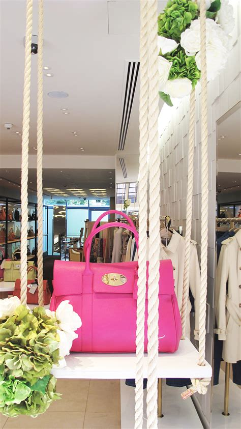 swing display mulberry flower swing window display best window displays