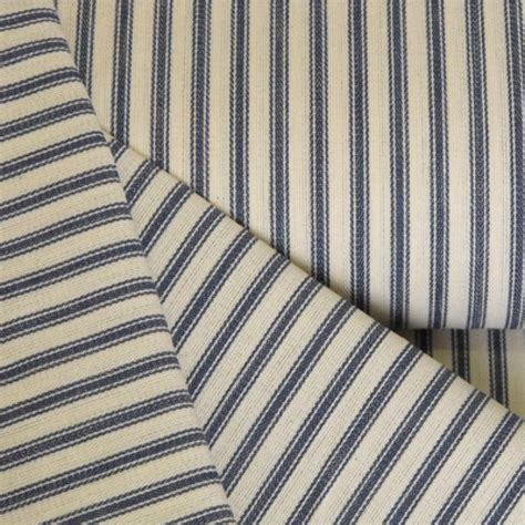 Mattress Ticking by Blue Striped Mattress Ticking Woven Cotton Fabric Ditto