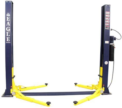 2 post car lift eagle equipment 9 000 lb symmetric mechanix 2 post car lift in two post lifts