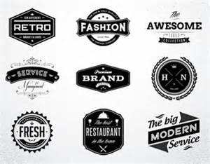 retro logo template psd 10 retro badges logos vol 1 psd template on behance