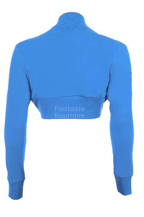 new aqua blue w bolero sleeve floral beaded sequin s bolero