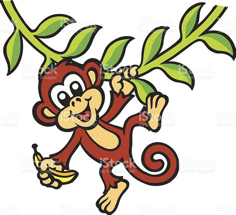 cartoon monkey swinging on a vine swinging monkey cartoon clipart best