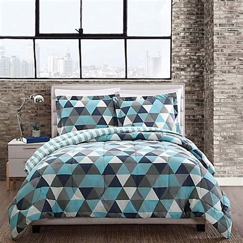 triangle bedding style 212 graphic triangle comforter set bed bath beyond