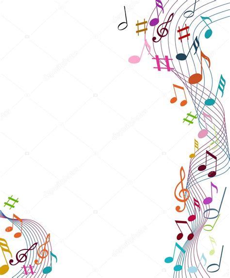 imagenes de notas musicales sin fondo color fondo de notas de m 250 sica archivo im 225 genes