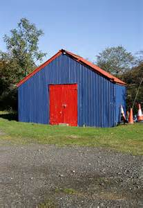 The Football Shed by A Colourful Shed At Langholm Rugby C Walter Baxter