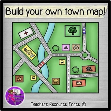 create a building map build your own town map clip clip build your