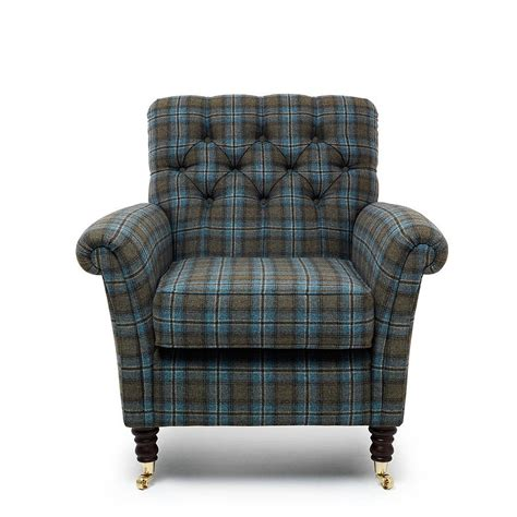 chatsworth tartan foxwood armchair by within home