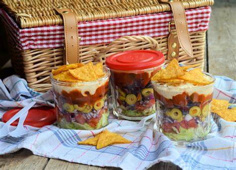 picnics lunch box and barbecue salad idea layered picnic