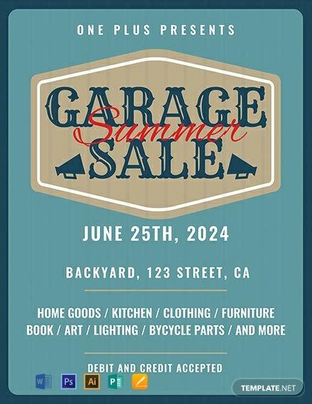 printable garage sale flyer template word