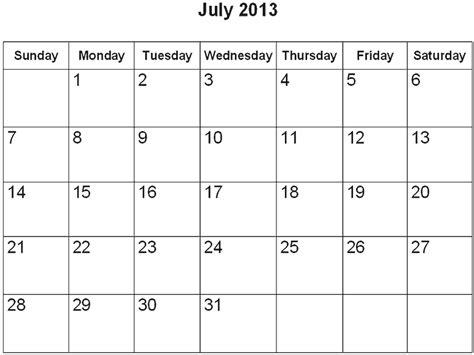 Calendar July 2013 Page Calendar 2013 July Printable Page 2 Search