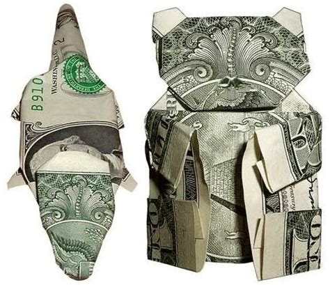 Origami Dollar Animals - dollar bill origami animals boing boing