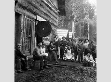 Petrus Pearson logging camp on the Stillaguamish River at ... Logging Camp History