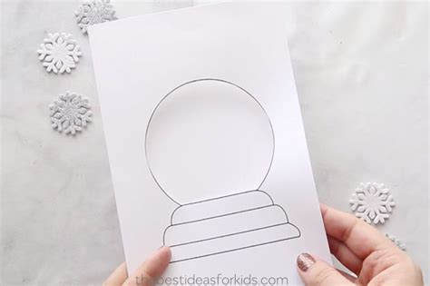 Snow Globe Template Card The Best Ideas For Kids Snow Globe Card Template