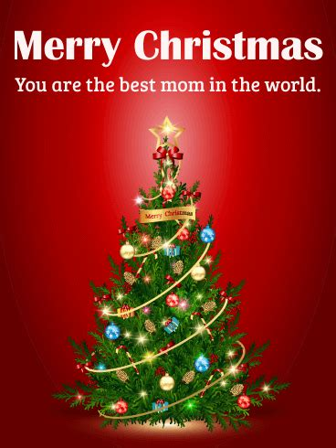 mom merry christmas card birthday greeting cards  davia