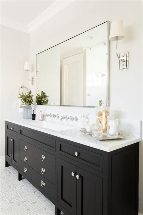 Bathrooms With Black Vanities Windsong Project Master Suite Formal Living Dining Studio Mcgee