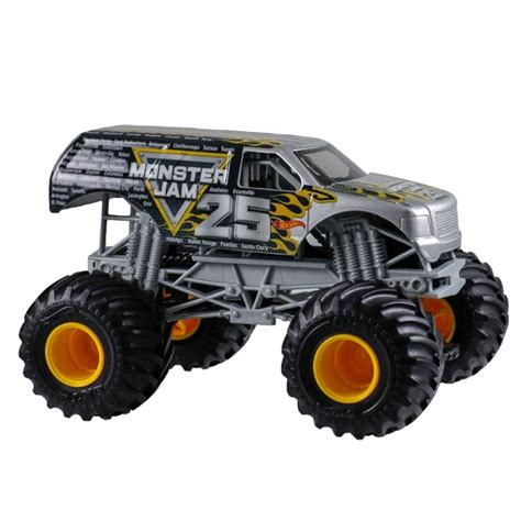 1 24 scale monster jam trucks 1 24 wheels monster jam 25th anniversary truck