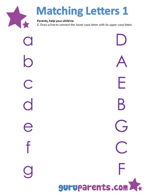 Matching Worksheet by Matching Letters Worksheets Wiildcreative