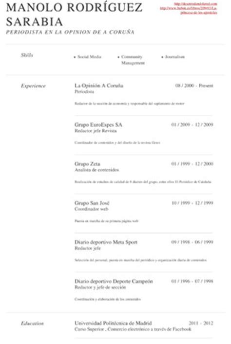 Plantilla De Curriculum Para Cocinero Orla Orientaci 243 N Laboral Y Acad 233 Mica 13 Webs Para Crear Un Curr 237 Culum V 237 Tae Que Llame La Atenci 243 N