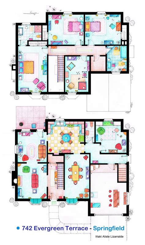 floor plans of tv homes famous tv shows set layout floor plans luckyrites
