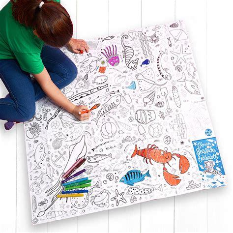 seaside colour in tablecloth eggnogg colouring in colour in tablecloths seaside by eggnogg ltd