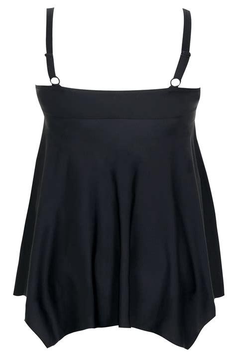 Sale Id 321 Faces Print Dress schwarzes bauchformendes schwimmkleid mit zipfelsaum