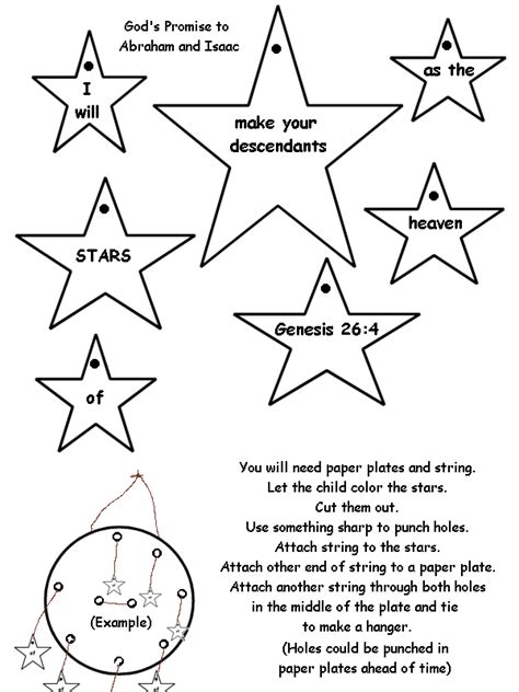 abraham stars coloring page star mobile for isaac or abraham craft and sunday school
