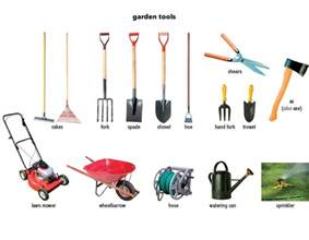 gardening tools tools and pots nursery sapplings