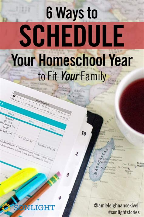 6 ways to organize your homeschooled high school teen six ways to schedule your homeschool year to fit your