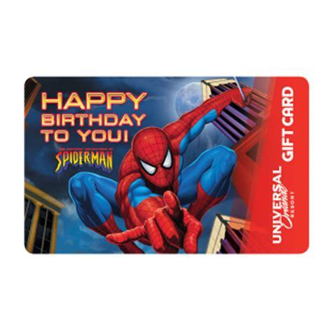 Gift Card Universal - your wdw store universal collectible gift card spider man happy birthday