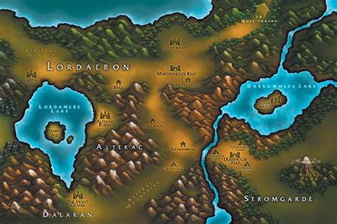 warcraft 3 maps scrolls of lore image gallery maps caign loading screens lordaeron manual map