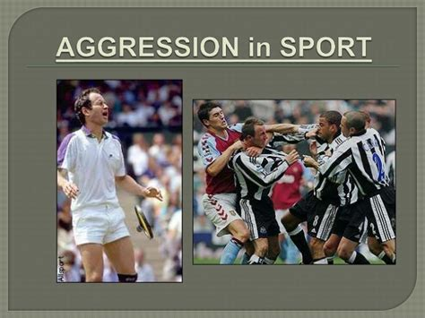 on aggression in the home aggression in sport
