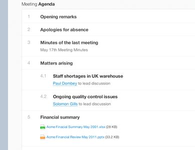 Minutebase Meeting Collaboration Made Easy Collaboration Meeting Agenda Template