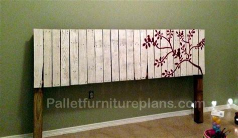 making headboards out of pallets 4 headboards made from wooden pallets pallet furniture plans