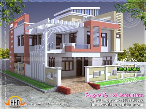 Modern Home Design India Modern Indian House In 2400 Square Kerala Home