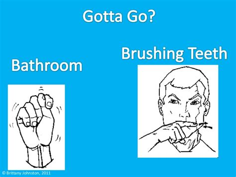 how to say bathroom in sign language american sign language
