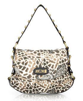 Just Cavalli Lace Giraffe Print Hobo just cavalli lace giraffe print hobo bag