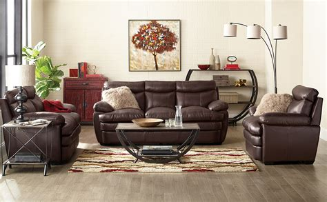 brick living room furniture marty genuine leather sofa brown the brick
