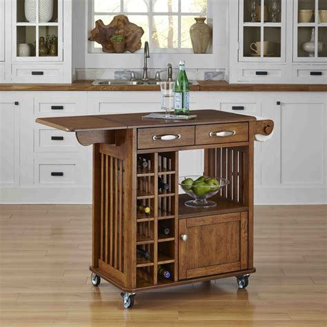 Kitchen Cart Reddit Home Styles Danville Kitchen Cart Oak Finish The Home