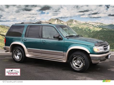 1998 ford explorer 1998 pacific green metallic ford explorer eddie bauer 4x4