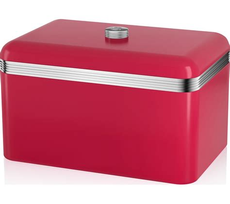 buy swan retro bread bin free delivery currys